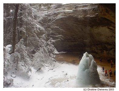 Ice Falls at Ash Cave