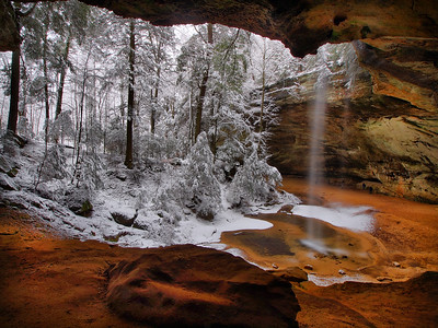 Ash Cave Snow Day #3