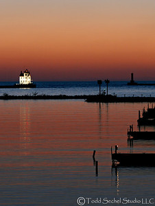 (4) Lorain Lighthouse (Post-sunset)