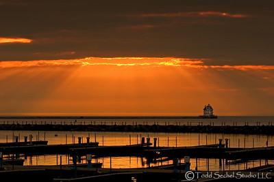 (1) Lorain Lighthouse - Sunset