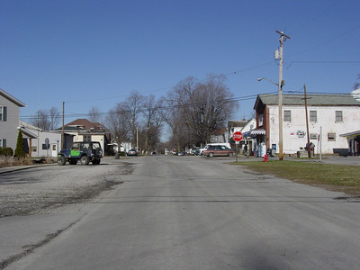 Typical intersection, Lynchburg, Ohio