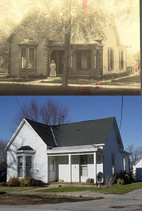 Laymon Home in Lynchburg, Ohio...Then and now