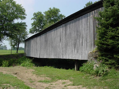 Covered Bridge, Lynchburg, Ohio. I remember my dad taking me here when I was five, in 1967.