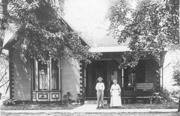 James and Hattie Laymon at their home on Pearl Street, Lynchburg, Ohio.