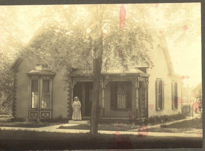 Hattie Laymon at home on Pearl Street, Lynchburg, Ohio