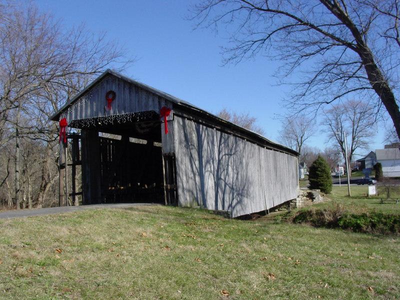 Covered Bridge, Lynchburg, Ohio<br /> Looking east