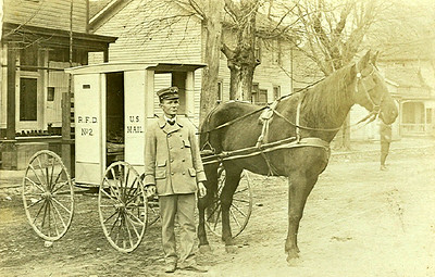 1910 Lynchburg Ohio letter carrier