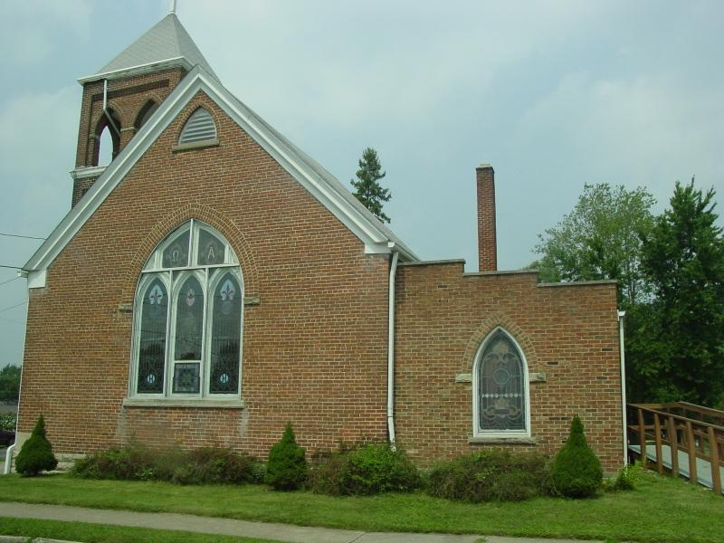 I think this was the Methodist Church on Pearl Street, Lynchburg, Ohio