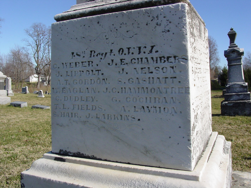 Amos Laymon<br /> Civil War marker <br /> lynchburg ohio Masonic Cemetery