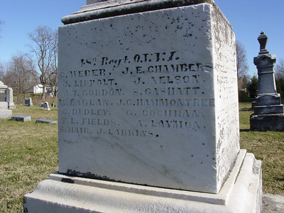 Amos Laymon Civil War marker  lynchburg ohio Masonic Cemetery