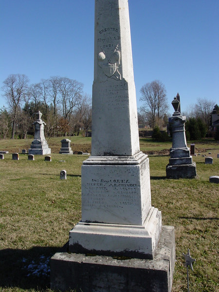 48th Regiment O.V.V.I<br /> Ohio<br /> Lynchburg Masonic Cemetery<br /> Amos Laymon