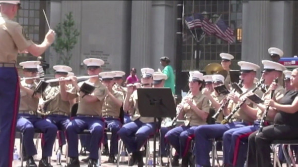 VIDEO:  Day 2       Tuesday, June 12, 2012 - Marine Week Cleveland -- Band Concert at Public Square & Rock N Roll Band playing at The Rock N Roll Hall of Fame.