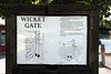 Legend describing canal wicket gates.<br /> <br /> Miami and Erie Canal, Providence Park, Grand Rapids, OH