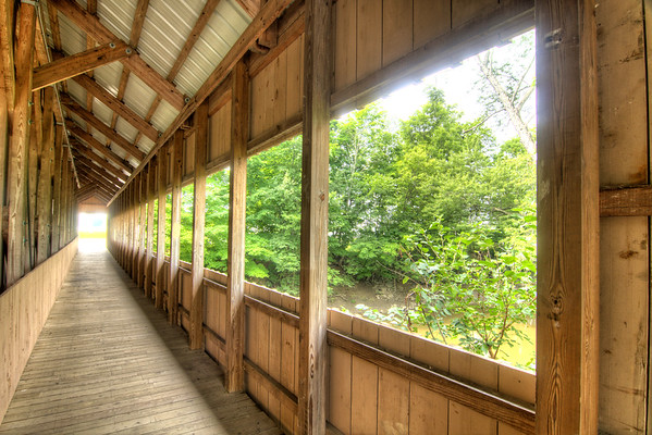 The Montpelier Covered Bridge at the Williams County Fairgrounds in Montpelier, OH on Sunday, August 9, 2015. Copyright 2015 Jason Barnette