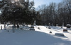 Wolfinger Cemetery, Secor Park, Toledo, Ohio.<br /> <br /> Long shadows and sparkling snow on a winter afternoon.