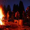 New Years bonfire in Ohiopyle