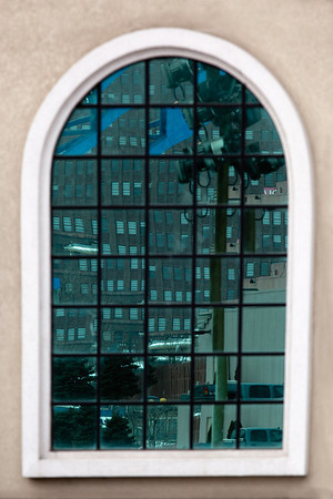 Reflection of Buildings on East Bank of Cleveland Flats from a Building on the West Bank