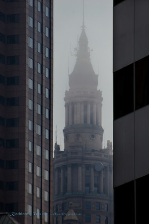 Terminal Tower on Foggy Day