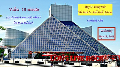 Video:  15 minutes ~~ Rock & Roll Hall of Fame - Version 1, Wed., May 23, 2018, Cleveland, Ohio