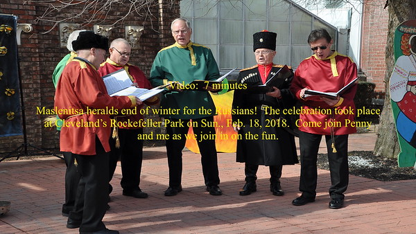 Video:  7 mins. ~~ Russian End of Winter Festival, Sun., Feb. 18, 2018, Cleveland, Ohio