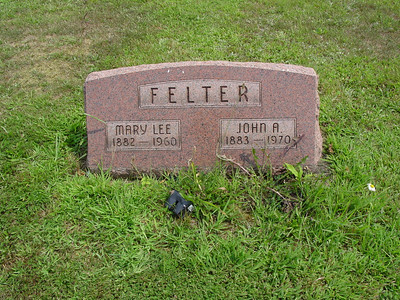 John Felter and Mary Lee Felter Troutwine Cemetery, Lynchburg, Ohio