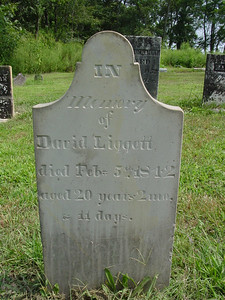 David Liggett, Died 1842, age 20 Troutwine Cemetery, Lynchburg, Ohio
