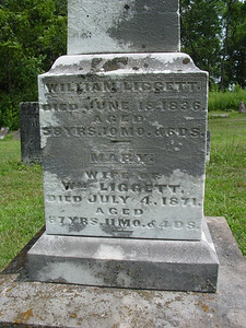 William Liggett Mary Priscilla (Shawhan) Liggett Troutwine Cemetery, Lynchburg, Ohio