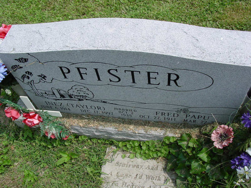 Fred Pfister and Inez (Taylor) Pfister<br /> Troutwine Cemetery, Lynchburg, Ohio
