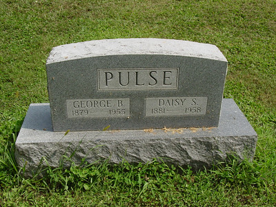 George Pulse (1879-1955) Daisy Pulse (1881-1958) Troutwine Cemetery, Lynchburg, Ohio