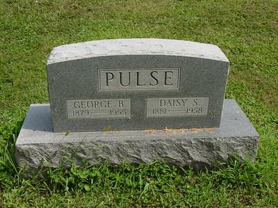 George Pulse (1879-1955) Daisy Pulse (1881-1958) Troutwine Cemetery, Lynchburg, Ohio