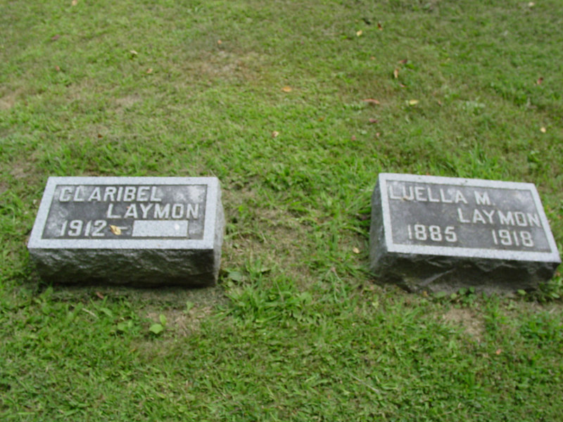 Claribel Laymon, and her mother, Luella M. Laymon<br /> Troutwine Cemetery, Lynchburg, Ohio