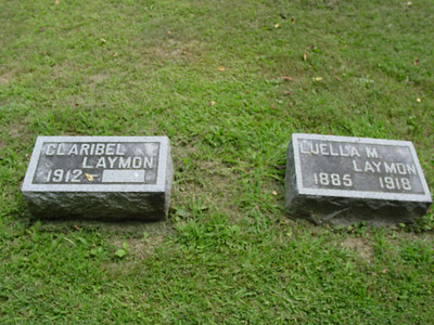 Claribel Laymon, and her mother, Luella M. Laymon Troutwine Cemetery, Lynchburg, Ohio