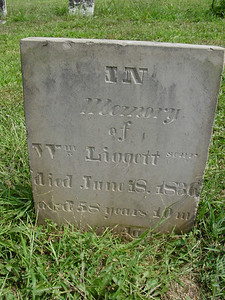 William Liggett (1777-1836) Troutwine Cemetery, Lynchburg, Ohio