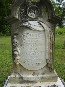 Rebecca Liggett d.1899 Troutwine Cemetery, Lynchburg, Ohio