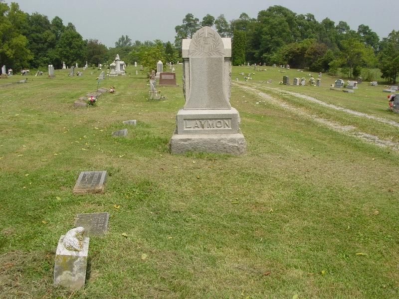 Laymon family marker Troutwine Cemetery, Lynchburg, Ohio