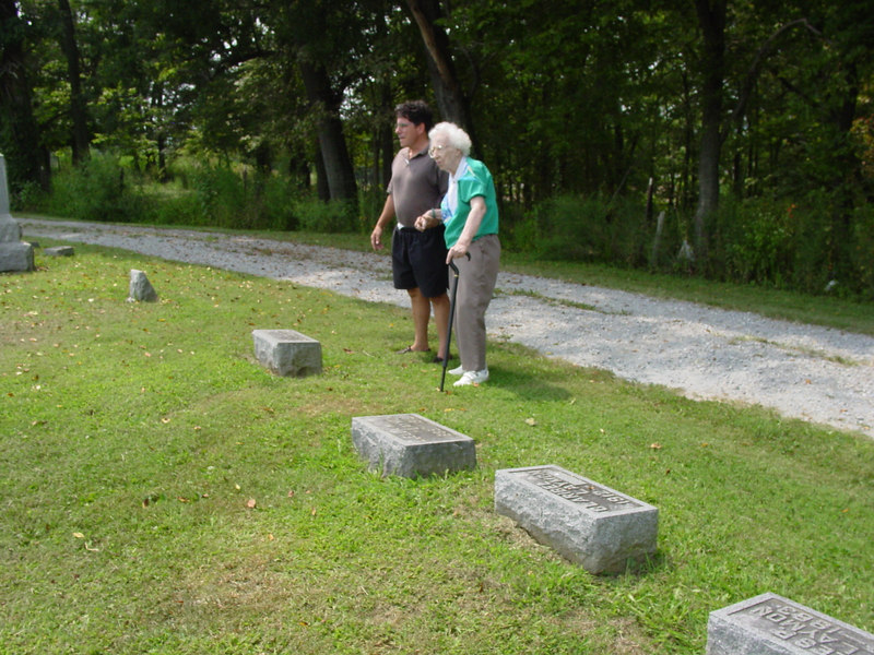 Rob and Clara visit the family gravesite; Troutwine Cemetery, Lynchburg, Ohio