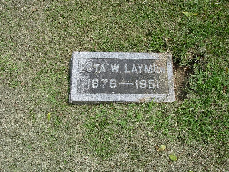 Esta W. Laymon<br /> Troutwine Cemetery, Lynchburg, Ohio
