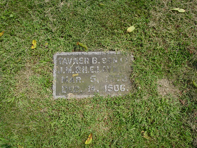 Tavner B. Laymon, son of James M. Laymon and Harriet Elizabeth (Fisher) Laymon Troutwine Cemetery, Lynchburg, Ohio