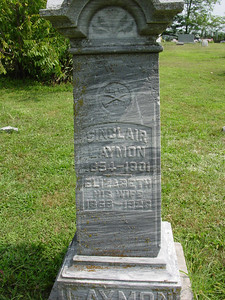 Sinclair Laymon Elizabeth Sarah Gibson Laymon Troutwine Cemetery, Lynchburg, Ohio They lived in the 2-story house down Wise Road.