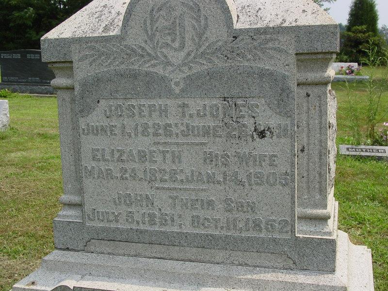 Joseph Jones, Elizabeth Jones, John Jones, Troutwine Cemetery, Lynchburg, Ohio
