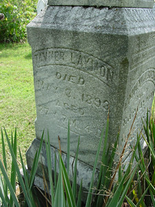 Tavner Laymon, son of Jacob Laymon A farmer who donated land for the Laymon School of Webertown. Troutwine Cemetery, Lynchburg, Ohio