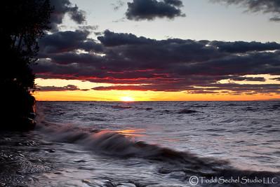 Sherod Park Sunset (2947) - Vermilion, Ohio