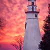 Marblehead lighthouse at sunrise