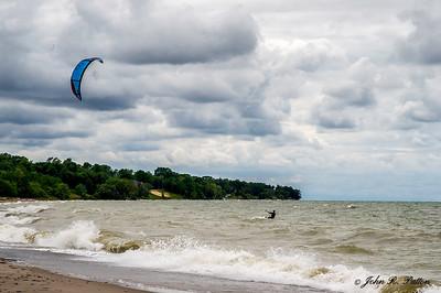 Windsurfer on Lake Erie