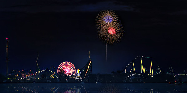Cedar Point with Fireworks (no border)