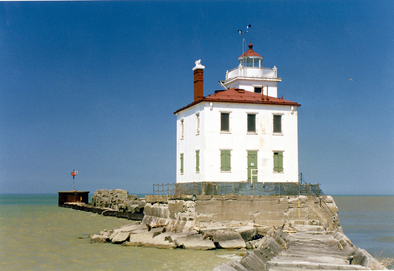 When the Fairport Harbor West Breakwater Light was automated in 1948, the Fresnel lens was replaced with a 300-millimeter acrylic lens and personnel were removed.  The station remained uninhabited until the GSA placed the lighthouse up for auction in 2010.  After 3 attempts to successfully auction off the property, Shelia Consaul of Virginia eventually won title to the lighthouse in 2011.  Her plans are to renovate the structure to turn it into a summer lake home with a beautiful view.  You can follow her progress on her website fairportharborwestlighthouse.com.