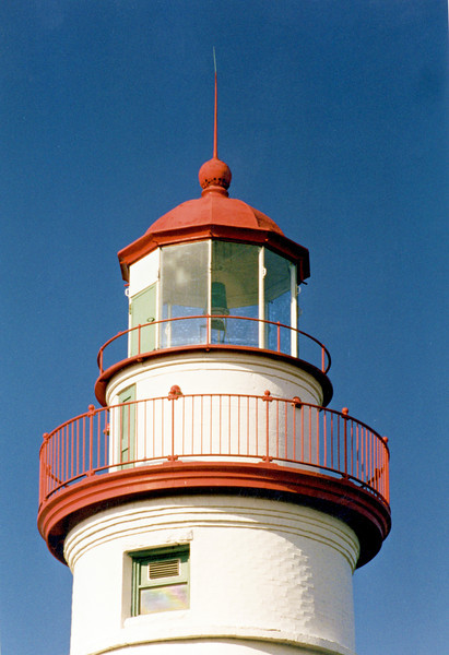 In June, 1822 the 13 Argand oil lamps with 16 inch reflectors in the lantern were filled, trimmed and lit by Benajah Wolcott, the lighthouse's first keeper.  Wolcott was a Revolutionary War veteran who had emigrated to the Sandusky area following the War.  Wolcott served as Keeper until 1832 when he died from cholera.  Upon his death his wife Rachel assumed the keepers position making her the first female keeper on the Great Lakes.