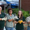 Manno, Marti, Savannah and Rich prepare to release our baby screech owls