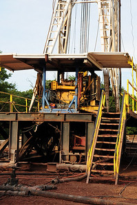 The drilling platform.