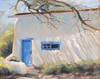"White Adobe.         8""x10"" oil  Plein Air"